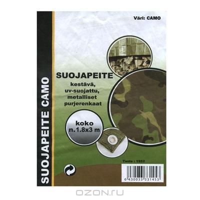 """Тент укрывочный """"Suojapeite"""", расцветка: камуфляж, 1,8 м х 3 м"""