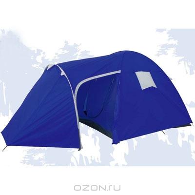 """Палатка четырехместная """"Everest"""", двуслойная, цвет: синий. 2741"""