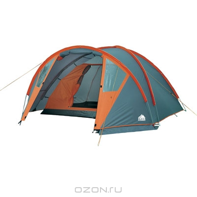 """Палатка Trek Planet """"Hudson 4"""", цвет: серый, оранжевый"""